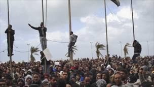 مظاهرة حاشدة في بنغازي