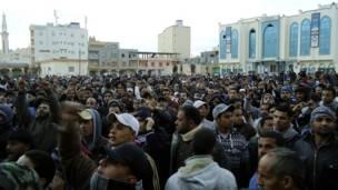 مظاهرة كبيرة في طبرق