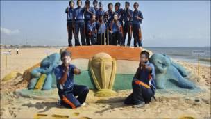 चेन्नई के समुद्री तट पर