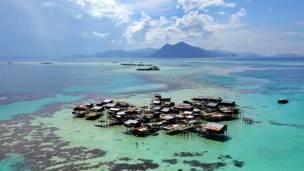 Поселок морских цыган - вид сверху