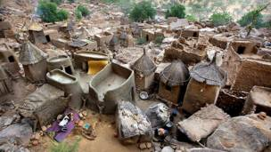 Дома в африканском поселке