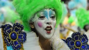 Участница карнавала в Рио