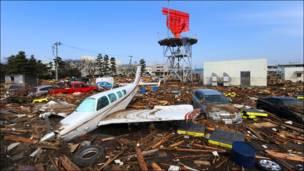 الدمار الذي خلفه زلزال اليابان