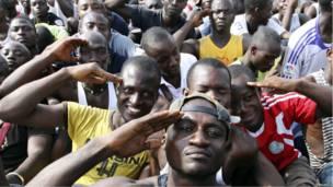Сторонники Лорана Гбагбо в Кот д'Ивуаре