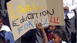 Акция протеста в Кейптауне