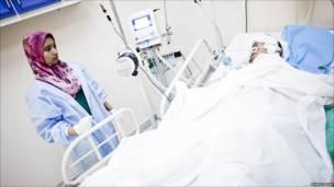 مصاب في مستشفى مصراتة