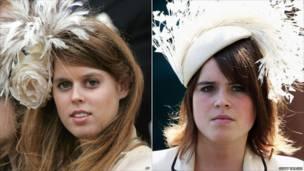 الأميرة بياتريس وشقيقتها يوجين.