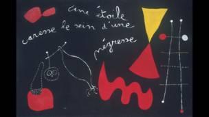 """""""Una Estrella Acaricia el Pecho de una Negra (Poema Pintado)"""", 1938"""