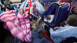 Палатки в Лондоне