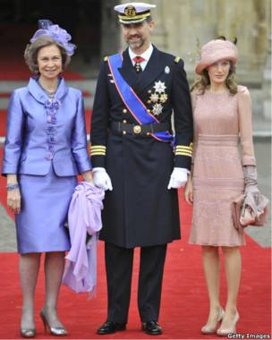 Ее величество королева София Испанская и принцесса Летиция