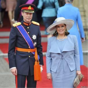 Великий герцог Люксембурга Генрих и Великая герцогиня Тереза