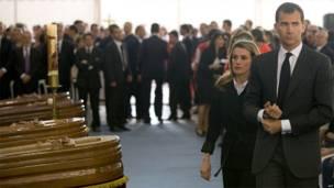 Los príncipes de Asturias, Felipe y Letizia, asistieron a la ceremonia.