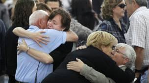 Familiares de las víctimas