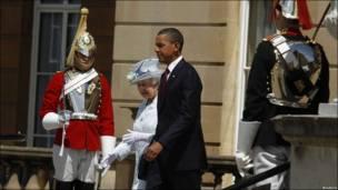 女王与奥巴马