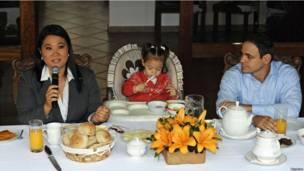 Keiko Fujimori y su familia