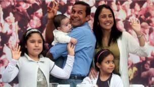 Ollanta Humala y su familia