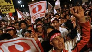 Partidarios de Humala celebran