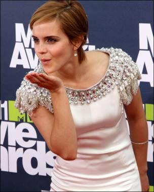 Нова ікона стилю і зірка саги про Гаррі Поттера Емма Вотсон вітала своїх прихильників поцілунками.