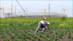 Львівський стадіон - картопля швидше сходить на городі, аніж будівництво на одному з основних стадіонів чемпіонату. Червень 2011.