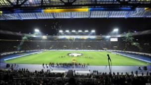 """Відкриття стадіону """"Металіст"""" у Харкові. Виглядає ефектно і готовий зустрічати гостей чемпіонату."""