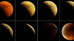 صورة مجمعة لخسوف القمر