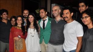 जाने तू या जाने ना की टीम, आमिर ख़ान, किरण राव.