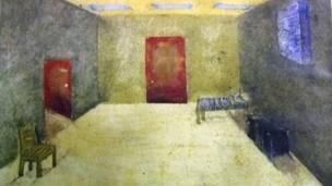 Cuadro pintado por un preso de Guantánamo