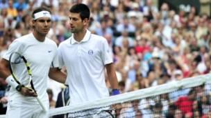 Rafael Nadal, Novak Djokovic tiba di Wimbledon.