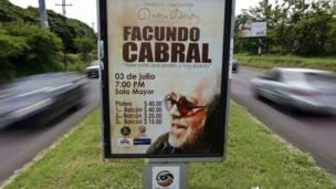 cartel anunciando concierto de Cabral en Managua