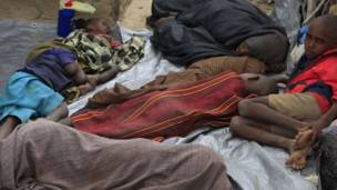 لاجئون صوماليون بسبب الجفاف والمجاعة