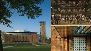 здание нового шекспировского театра в Стратфорде