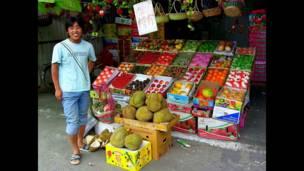 Mercado de frutas en Pekín