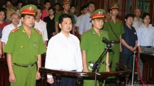 Tiến sỹ Cù Huy Hà Vũ tại tòa hôm 2/8