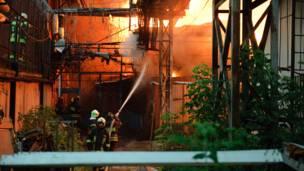 Пожар на Микояновском мясокомбинате