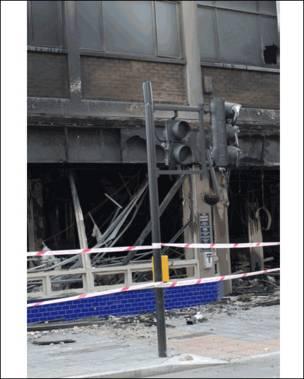 骚乱后的伦敦街头