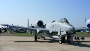 Штурмовик ВВС США A10 на МАКСе