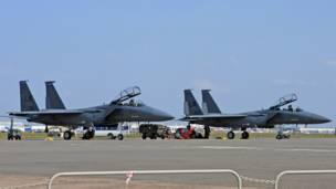 Истребители ВВС США на МАКСе