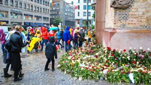 Цветы на улице в Осло