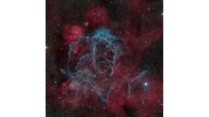 Restos da supernova Vela, fevereiro de 2011 © Marco Lorenzi / www.nmm.ac.uk/astrophoto