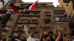 مظاهره کوونکي د اسراییلي سفارت ودانۍ مخې ته.