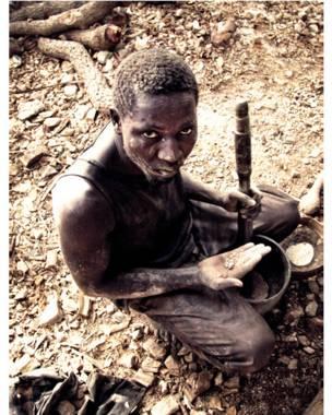 Намори Кеита, шахтер из Мали