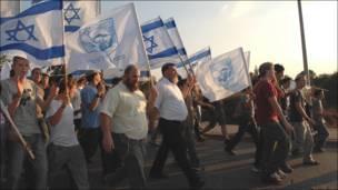 Марш еврейских поселенцев