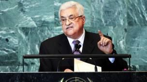 فلسطينیان په الخلیل کې د عباس خبرې اوري.