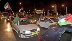 فلسطينیان د ولسمشر عباس په وینا خوښي ښيي.
