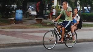 Bicicleta en Cuba