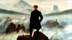"""""""El caminante sobre el mar de niebla"""" de Caspar David Friedrich"""