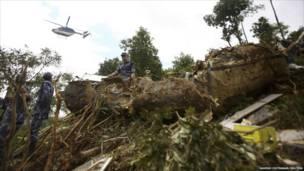 حطام طائرة في نيبال