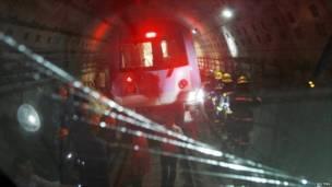 حادث قطار أنفاق في شنغهاي