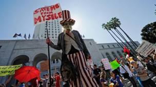 Protesta en Los Ángeles.