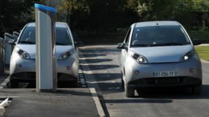 مشروع تأجير السيارة الكهربائية في باريس